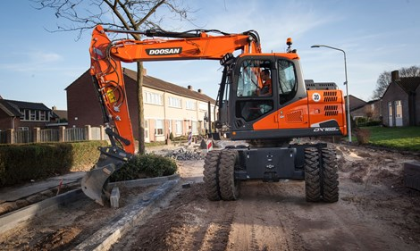Doosan wheeled excavators