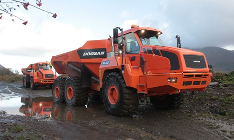 Doosan articulated dump trucks